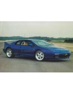 1995 LOTUS ESPRIT S4s DATENBLATT ENGLISCH