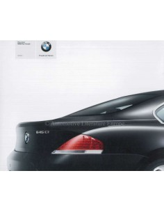 2003 BMW 6 SERIES COUPE BROCHURE GERMAN
