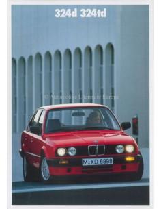 1989 BMW 3 SERIE DIESEL BROCHURE NEDERLANDS
