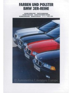 1991 BMW 3 SERIES COLOUR AND UPHOLSTERY BROCHURE