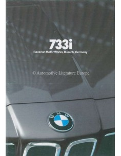 1980 BMW 7 SERIES BROCHURE ENGLISH (US)