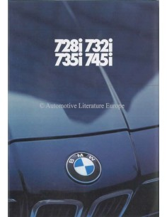 1980 BMW 7 SERIES BROCHURE DUTCH