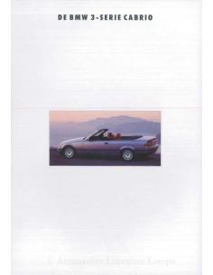 1993 BMW 3 SERIES CONVERTIBLE BROCHURE DUTCH