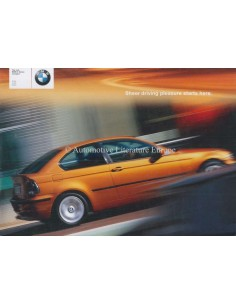 2001 BMW 3 SERIES COMPACT BROCHURE ENGLISH