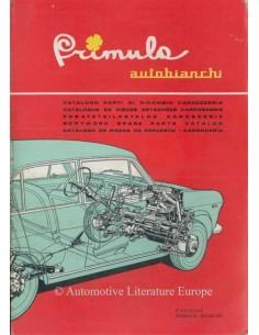 1965 AUTOBIANCHI PRIMULA ONDERDELENHANDBOEK CARROSSERIE