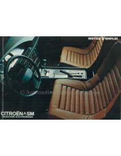 1973 CITROEN SM OWNER'S MANUAL FRENCH