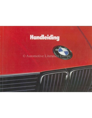 1988 BMW 3 SERIES OWNERS MANUAL DUTCH