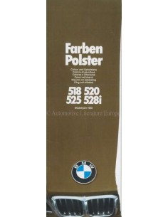 1980 BMW 5 SERIES COLOUR AND UPHOLSTERY BROCHURE