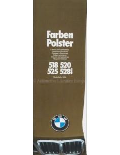 1980 BMW 5ER FARBEN UND POLSTER PROSPEKT