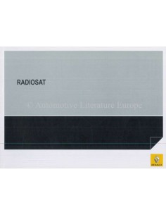 2007 RENAULT RADIOSAT OWNER'S MANUAL