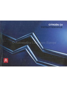 2004 CITROEN C4 OWNER'S MANUAL DUTCH