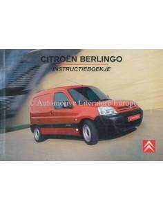 2006 CITROEN BERLINGO BETRIEBSANLEITUNG NIEDERLÄNDISCH