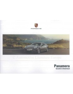 2012 PORSCHE PANAMERA GUARANTEE & MAINTENANCE DUTCH