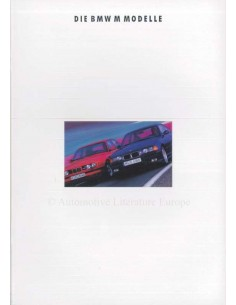 1992 BMW M SERIES RANGE BROCHURE GERMAN