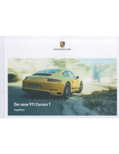 2018 PORSCHE 911 CARRERA T BROCHURE GERMAN