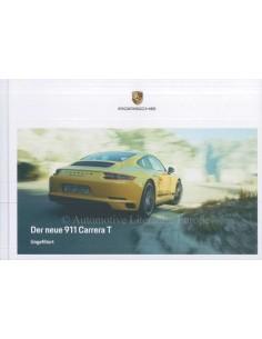 2018 PORSCHE 911 CARRERA T PROSPEKT DEUTSCH