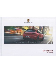 2017 PORSCHE MACAN HARDCOVER BROCHURE DUTCH