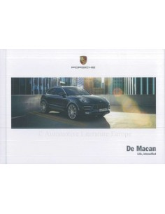 2018 PORSCHE MACAN HARDCOVER BROCHURE DUTCH