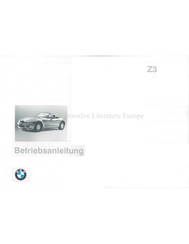 1995 BMW Z3 OWNERS MANUAL GERMAN
