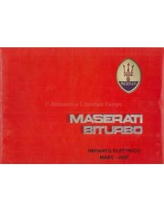1985 MASERATI BITURBO ELECTRIC SERVICE MANUAL ITALIAN
