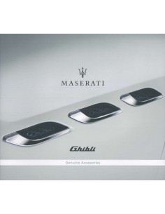 2017 MASERATI GHIBLI GENUINE ACCESSORIES BROCHURE ENGLISH