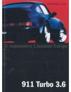 1994 PORSCHE 911 TURBO PROSPEKT ENGLISCH (USA)