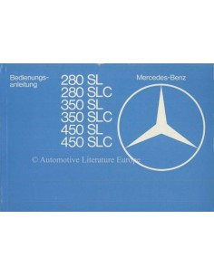1977 MERCEDES BENZ SL & SLC CLASS OWNERS MANUAL GERMAN