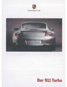 2000 PORSCHE 911 TURBO BROCHURE GERMAN