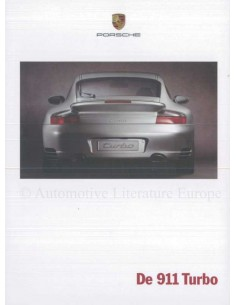 2000 PORSCHE 911 TURBO BROCHURE DUTCH