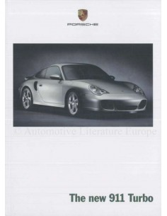 2000 PORSCHE 911 TURBO HARDBACK BROCHURE ENGLISH