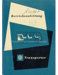 1953 VOLKSWAGEN T1 TRANSPORTER OWNERS MANUAL DUTCH