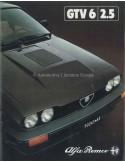 1981 ALFA ROMEO GTV6 2.5 BROCHURE DUTCH