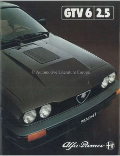 1981 ALFA ROMEO GTV6 2.5 BROCHURE DUTCH