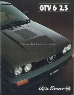 1981 ALFA ROMEO GTV6 2.5 BROCHURE NEDERLANDS