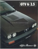 1980 ALFA ROMEO GTV6 2.5 BROCHURE NEDERLANDS