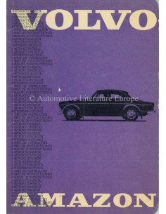 1965 VOLVO AMAZON 121/122 OWNERS MANUAL SWEDISH