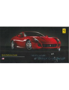 2006 FERRARI 599 GTB FIORANO QUICK REFERENCE GUIDE FRENCH / ENGLISH (CANADA VERSION)