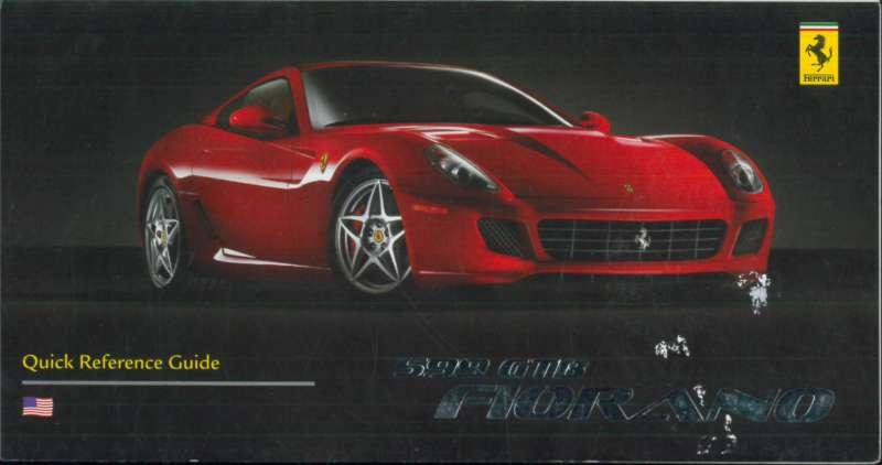 2006 Ferrari 599 Gtb Fiorano Quick Reference Guide English Usa Ver