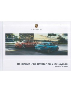 2017 PORSCHE 718 BOXTER & CAYMAN HARDCOVER PROSPEKT NIEDERLÄNDISCH