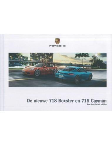2017 PORSCHE 718 BOXTER & CAYMAN HARDCOVER BROCHURE DUTCH