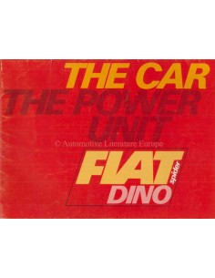 1967 FIAT DINO SPIDER BROCHURE ENGLISH