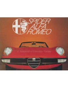 1972 ALFA ROMEO SPIDER BROCHURE DUTCH