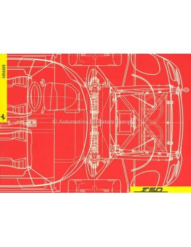 1995 FERRARI F50 PERS BROCHURE PERSMAP 954/95