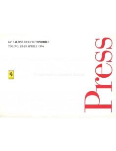 1996 FERRARI 456 GTA PRESSEMAPPE ENGLISCH & ITALIENISCH 932/95