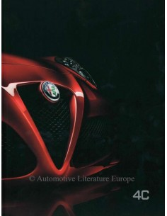 2016 ALFA ROMEO 4C BROCHURE FRENCH