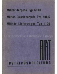 1942 FIAT 508C / 1100 OWNERS MANUAL GERMAN