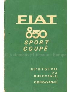 1968 FIAT 850 SPORT COUPÉ OWNERS MANUAL CROATIAN