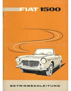 1960 FIAT 1500 OWNERS MANUAL GERMAN