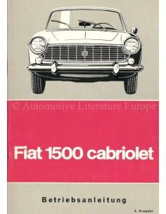 1965 FIAT 1500 KABRIOLETT BETRIEBSANLEITUNG DEUTSCH