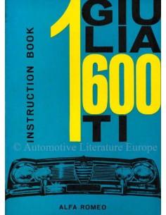 1962 ALFA ROMEO GIULIA 1600 TI BETRIEBSANLEITUNG ENGLISCH
